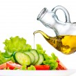 Healthy vegetable salad with olive oil — Stock Photo #48639259