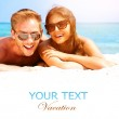 Couple in Sunglasses on the Beach. — Stock Photo #48639421