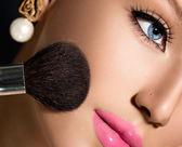 Make-up Applying closeup. — Stock Photo