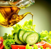 Vegetable Salad with Olive Oil — Stock Photo