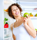 Young woman  with healthy Food — Stock Photo
