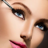 Eyeliner. Cosmetic eyeshadows — Stock Photo
