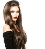 Woman with Long Healthy  Hair — Stock Photo