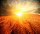Sand Landscape with Sun — Stock Photo