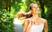 Running woman. — Stock Photo