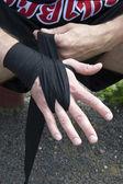 Nawijanie bandaż bokserski — Zdjęcie stockowe