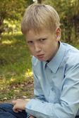 Sad child — Stock Photo
