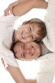 Happy family. Father and son — Stock Photo