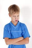 Retrato de menino triste — Foto Stock