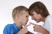 Children quarreling — Stock Photo