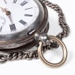 Old pocket-watches with a chain — Stock Photo