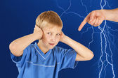 Parental anger. — Stock Photo