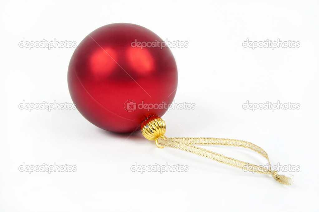 Christmas red  ball  — Stock Photo #16943897