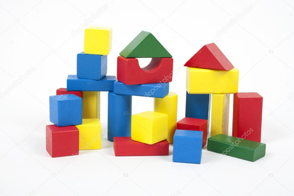 Wooden building blocks — Stock Photo #17679307