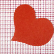 Royalty-Free Stock Photo: Heart from paper on a checkered background. Valentine