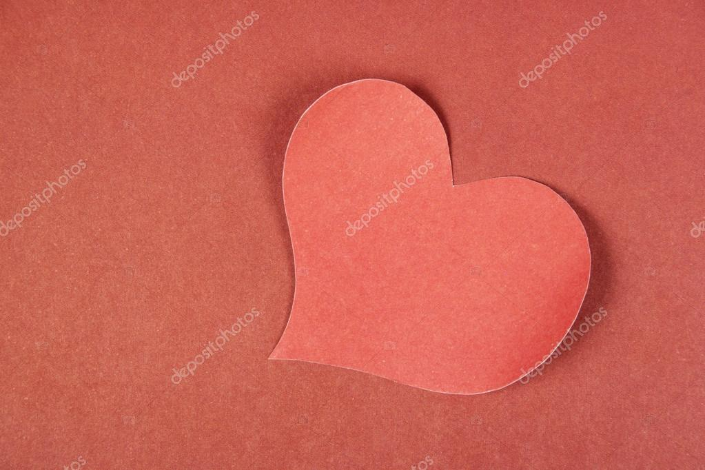 Heart from paper. Valentine's Day Background  — Stock Photo #19218557