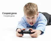 Boy playing games — Stock Photo