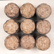 Stock Photo: Close-up of group of Champagne corks