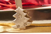 Christmas gold decoration — Stockfoto