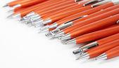Oranžový pera — Stock fotografie