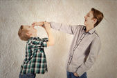 Quarrel of brothers — Stock Photo