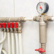 Pipes of heating of a boiler — Stock Photo #43848409