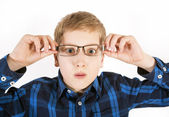 Boy in glasses — Stockfoto