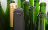 Capsules of a bottle of champagne — Stock Photo