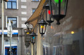 Small lamps on the street. — Stock Photo