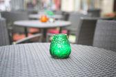 Bougie sur une table — Photo
