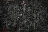 Coals background — Stock Photo