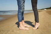 Legs of lovers — Stock Photo