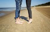 Nohy milenců — Stock fotografie