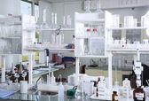 Chemical laboratory background — Stock Photo