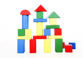 Wooden building blocks — Stock Photo