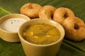 Masala Dosa with Chutney and Sambaar — Stock Photo