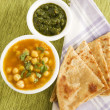 Chana masala with Paratha — Stock Photo