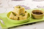 Dhokla, Indian Snack — Stock Photo