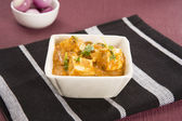 Paneer Masala or Cheese Cooked in a Creamy Sauce, Indian Dish — Stock Photo
