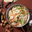 Shai Pilau or Vegetable Pilau or Indian Biryani — Stock Photo
