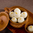 Rasgulla, Indian Sweet — Stock Photo