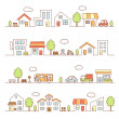 Stores and houses on street — Stock Vector #22579895