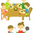 Dinner,cooking — Stock Vector