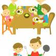 Royalty-Free Stock Vector Image: Dinner,cooking