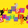 HAPPY BIRTHDAY, cats — Stock Vector