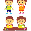 School kids — Stock Vector #22794902