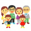 Three generation family — Stock Vector