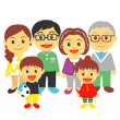 Three generation family — Stock Vector #23009016