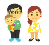 Parents and baby — Stock Vector