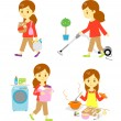 Housework — Stock Vector